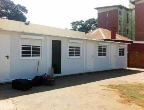 Ambulatorio modular en Zimbawe