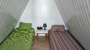 bungalow de dos plazas para camping