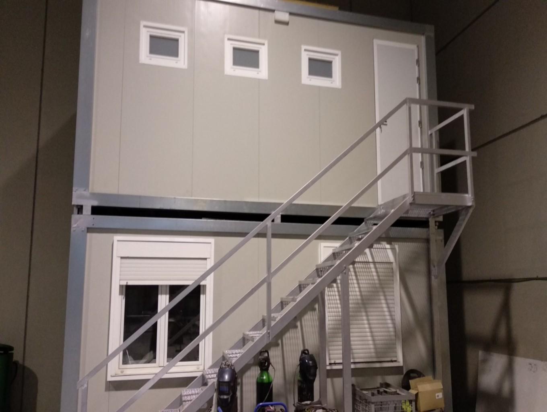 caseta de obra doble altura en zaragoza