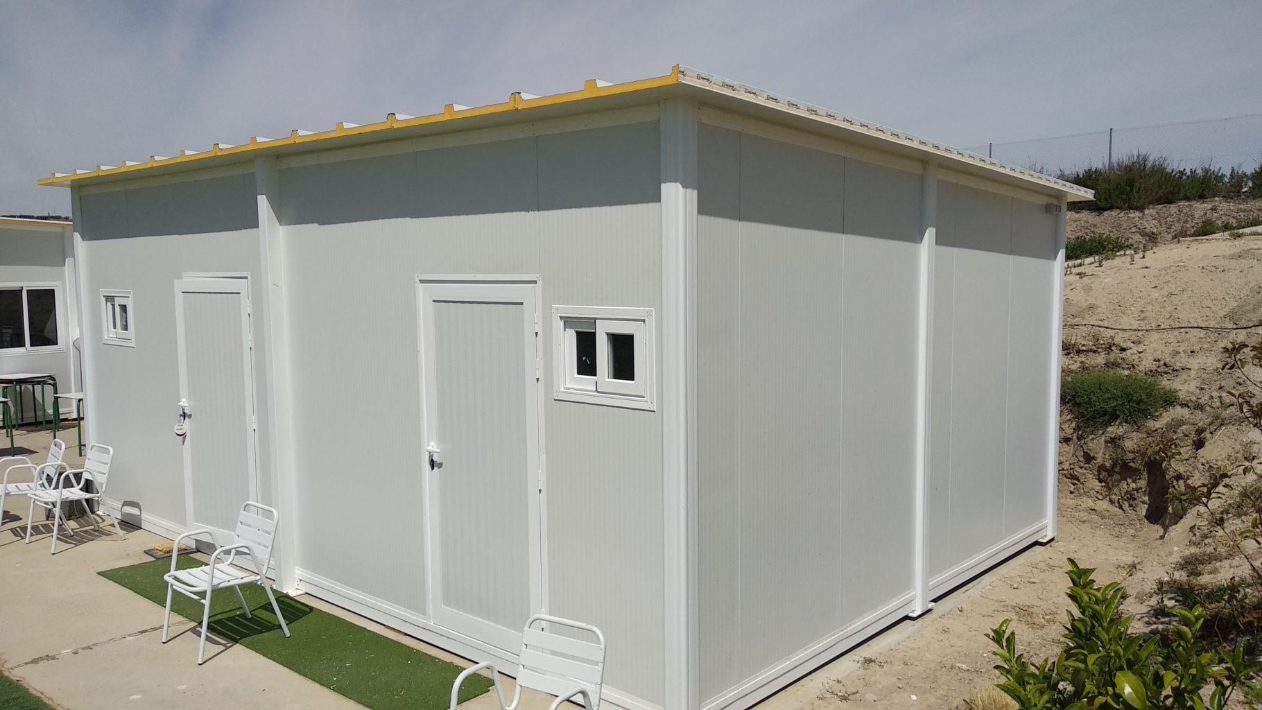 casa prefabricada de 25 m2 empleada para trastero en zaragoza
