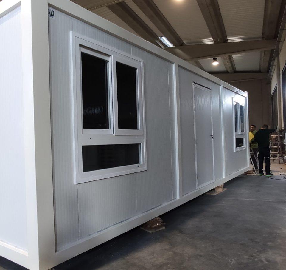 caseta de obra prefabricada 8 metros en zaragoza