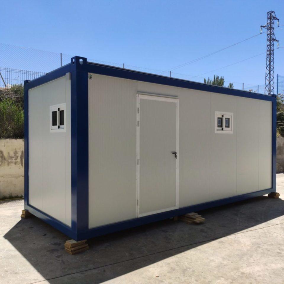 modulo prefabricado de vestuarios con 5 duchas